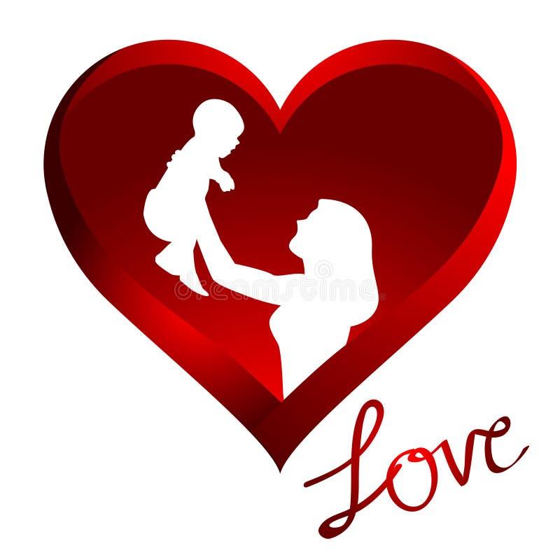 Amor de la madre stock de ilustración
