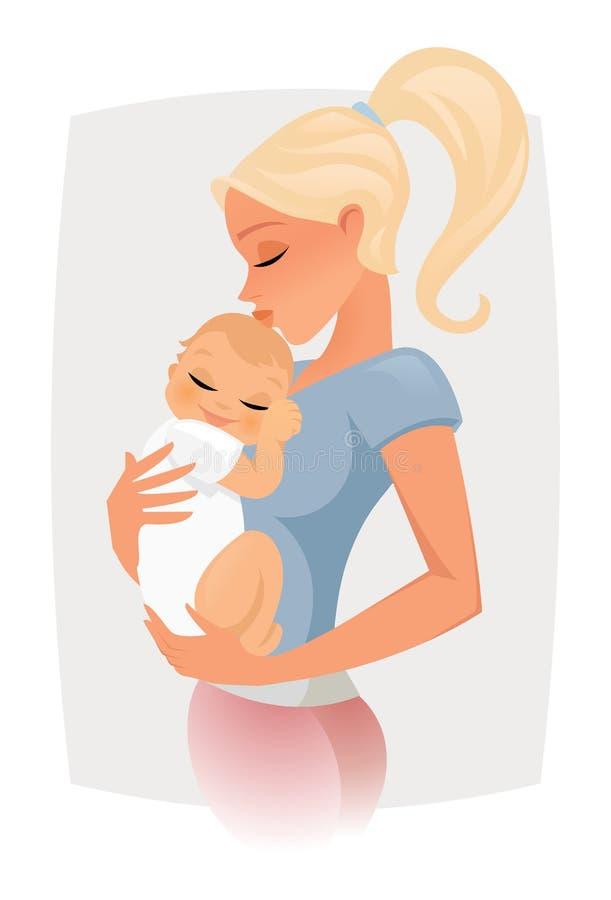 Amor de la mama stock de ilustración