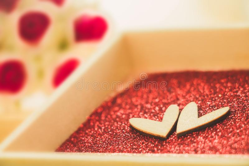 Amor de la muestra del corazón, día de San Valentín y concepto del amor fotografía de archivo libre de regalías