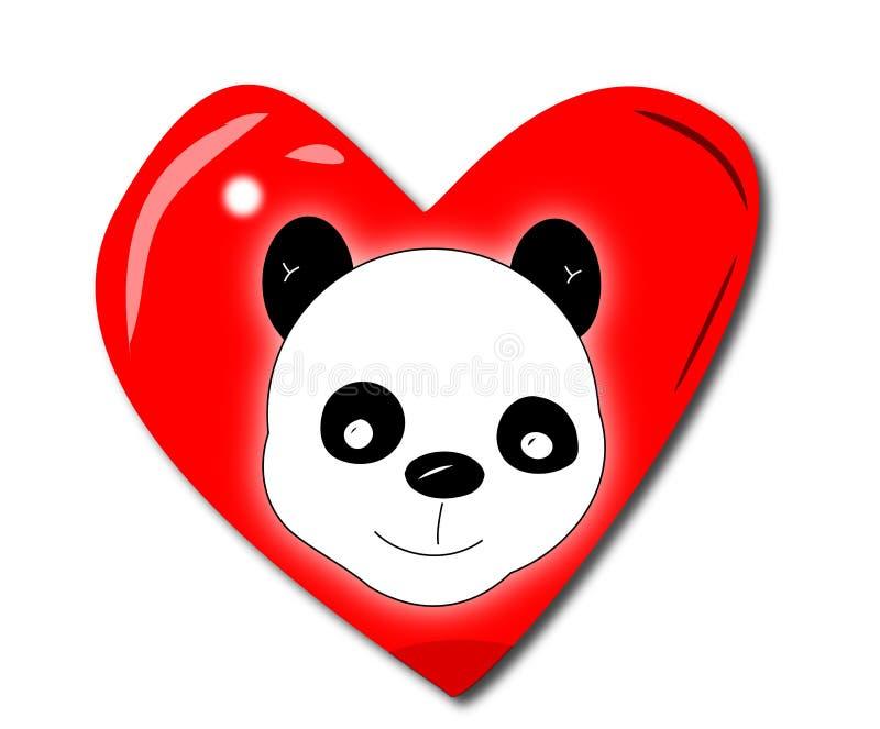 Download Amor de la panda ilustración del vector. Ilustración de asia - 7286163