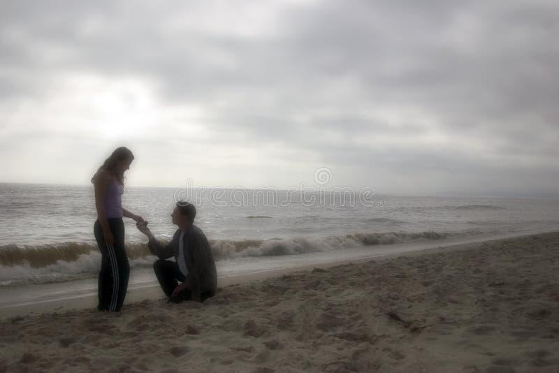 Amor de la playa fotos de archivo