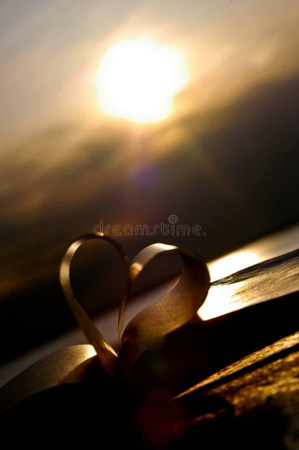 Amor de la puesta del sol fotografía de archivo