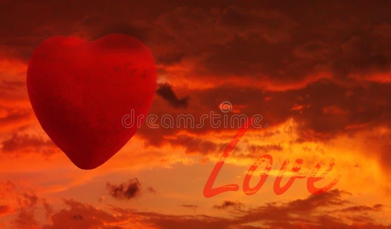 Amor de la puesta del sol imágenes de archivo libres de regalías