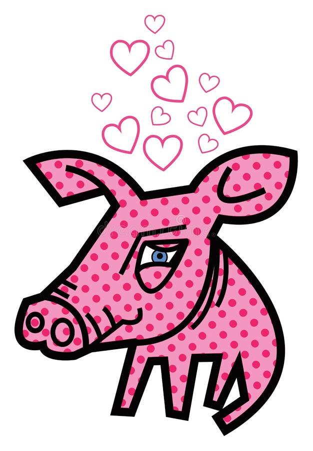 Amor de la tarjeta del día de San Valentín guarro ilustración del vector
