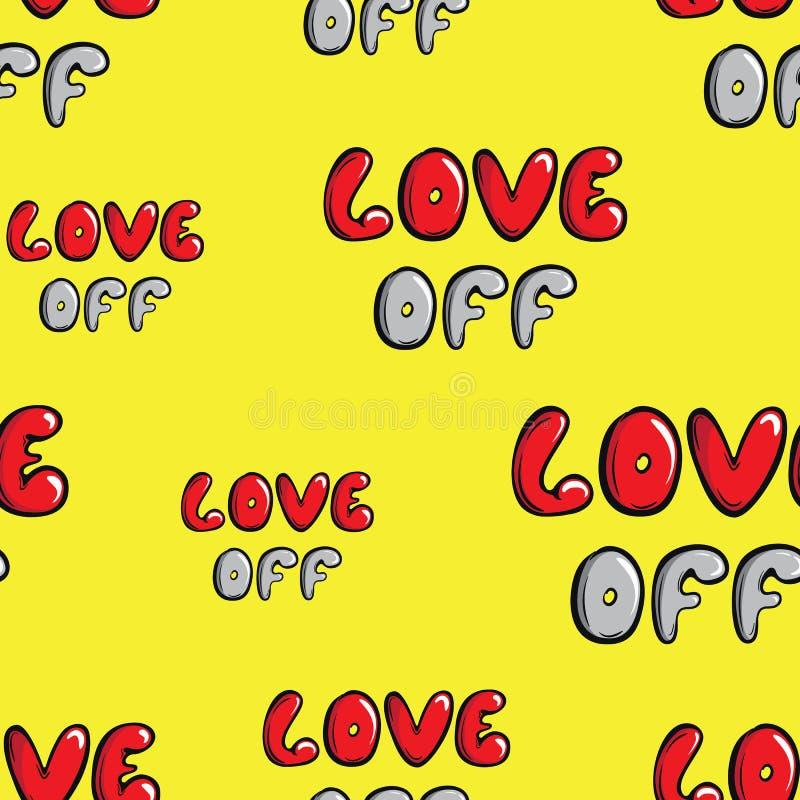 Amor de la textura inconsútil ilustración del vector