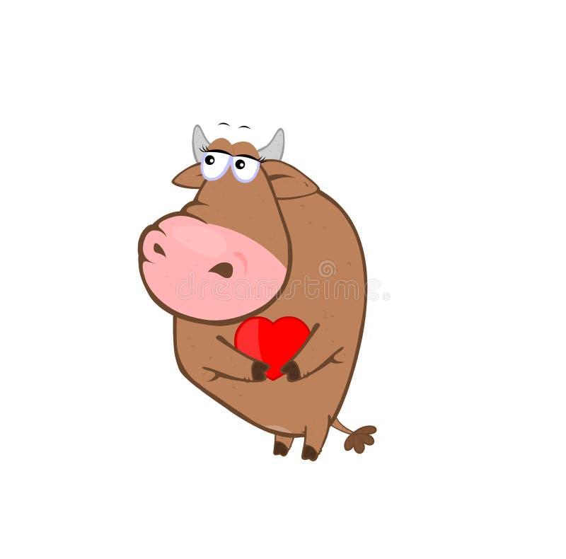 Amor de la vaca stock de ilustración