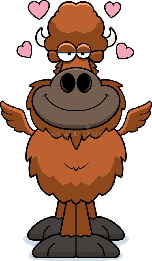 Amor de las alas de búfalo de la historieta stock de ilustración