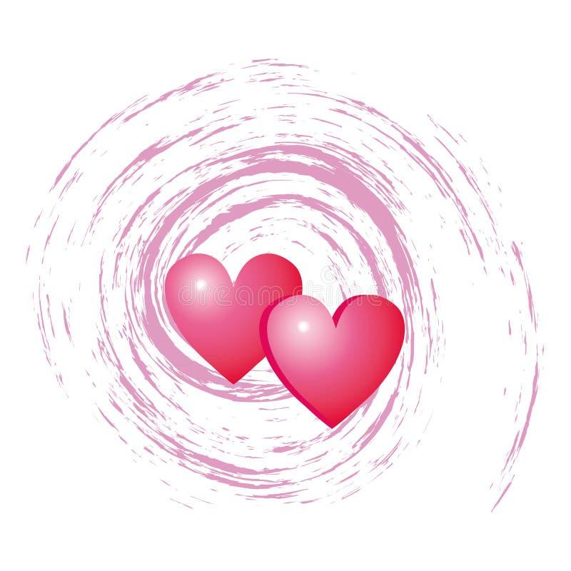 Amor de los corazones ilustración del vector