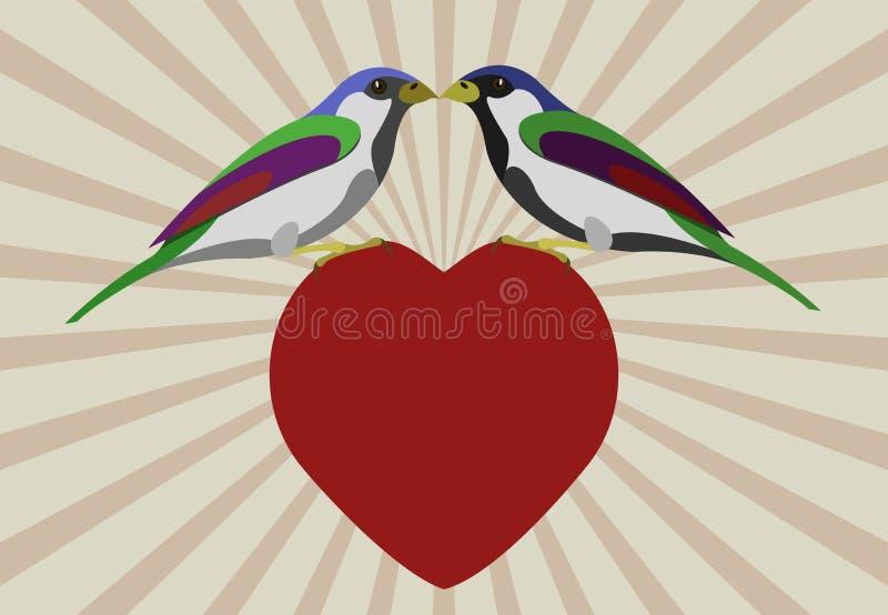 Amor de los pájaros foto de archivo