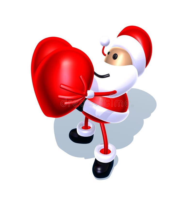 Amor de Papá Noel stock de ilustración