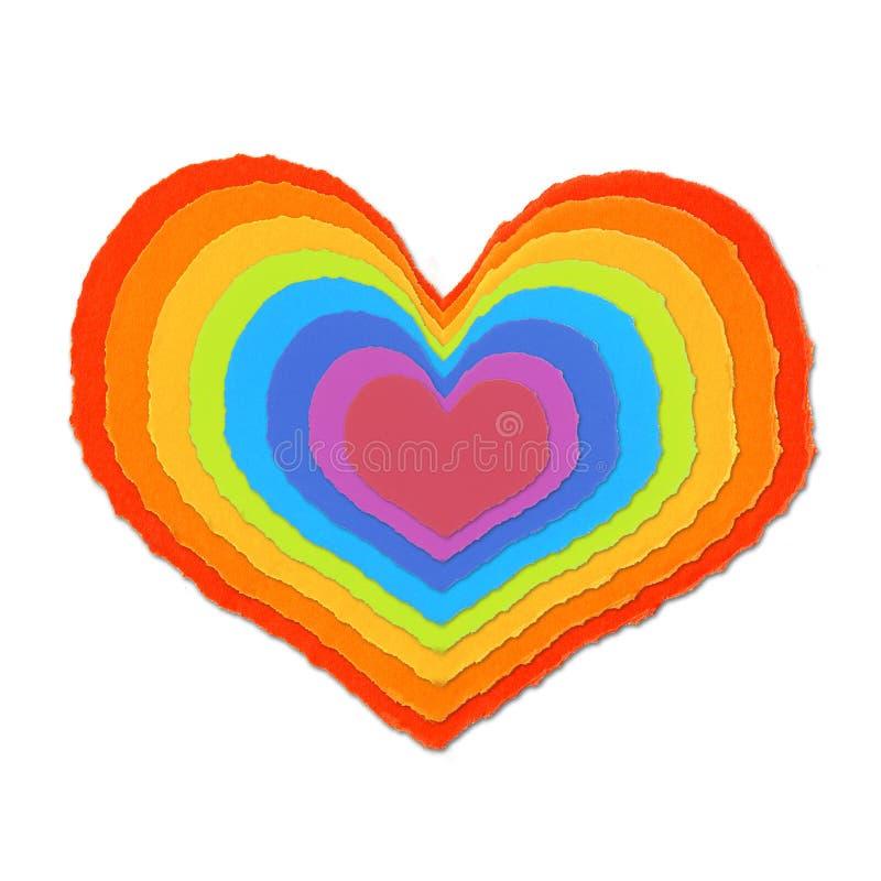 Amor de papel colorido ilustração royalty free