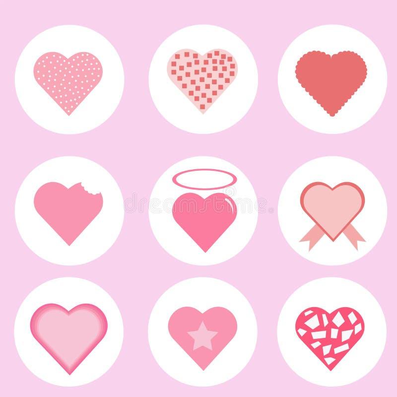 Amor de Patton, corazón del icono, vector imagen de archivo libre de regalías