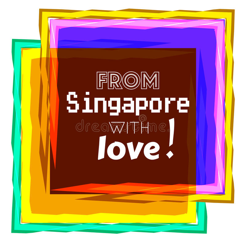 Amor de Singapura ilustração do vetor