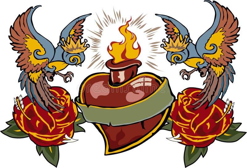 Amor de Tatoo Blasing stock de ilustración
