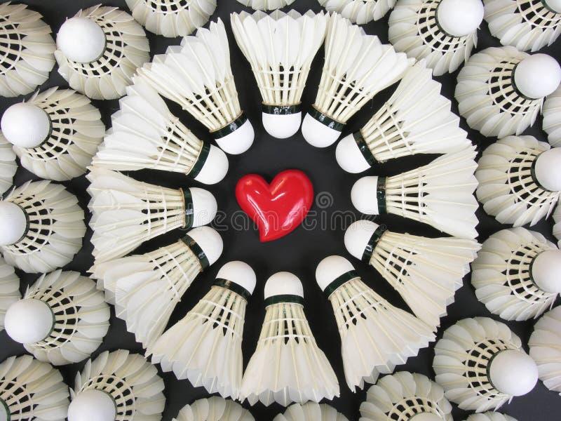 Amor del bádminton imagen de archivo