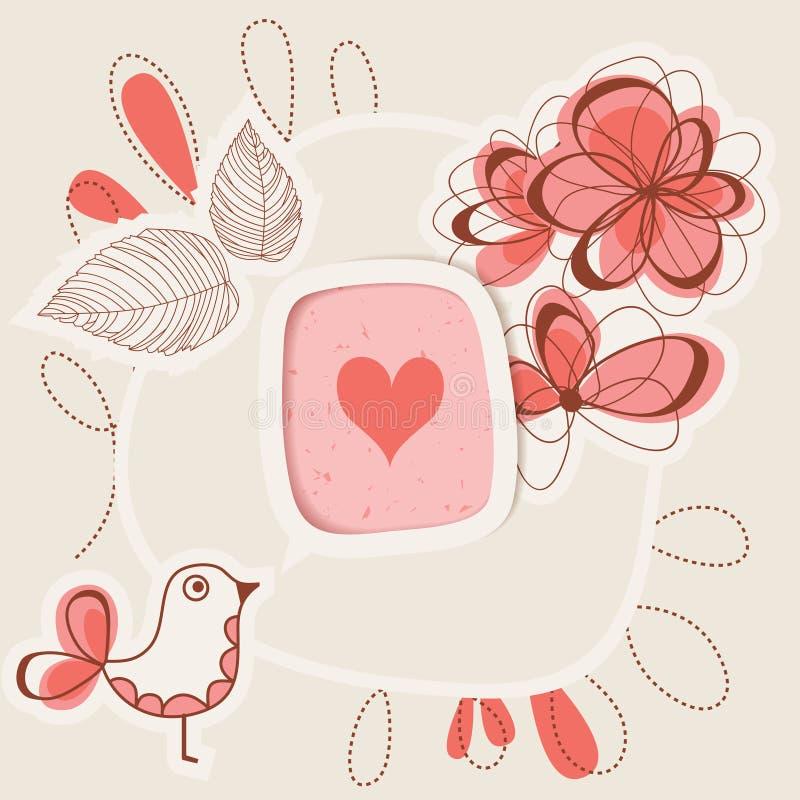 Amor del canto del pájaro ilustración del vector