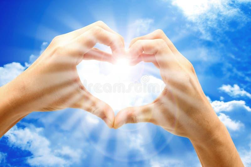 Amor del cielo fotografía de archivo libre de regalías