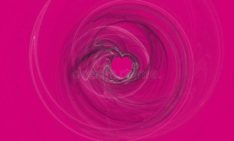 Amor del color de rosa caliente foto de archivo