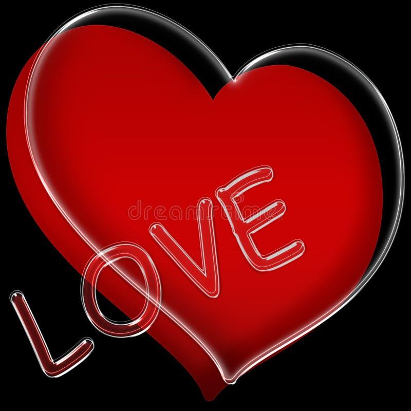 Amor del corazón - rojo del corazón stock de ilustración