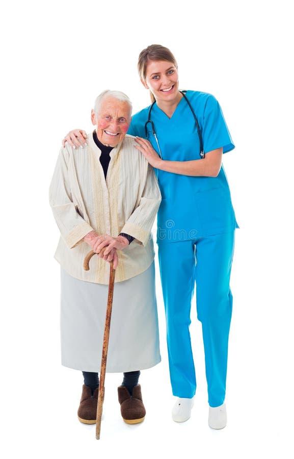 Amor del doctor y del paciente foto de archivo