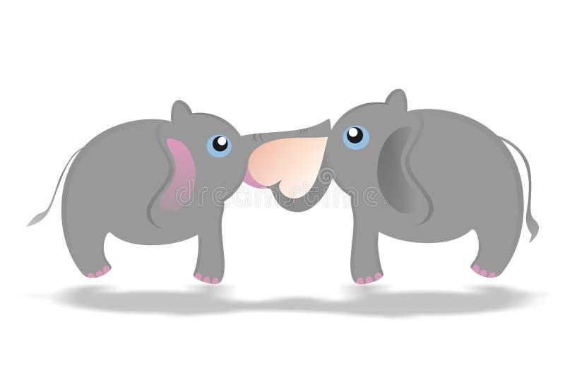 Amor del elefante stock de ilustración