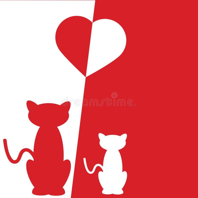 Download Amor del gato ilustración del vector. Ilustración de gráfico - 7151662