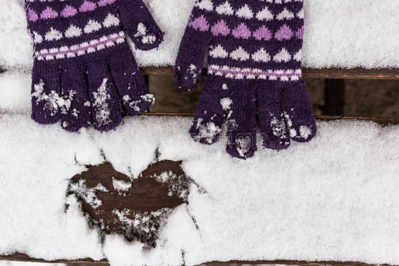 Amor del invierno imágenes de archivo libres de regalías