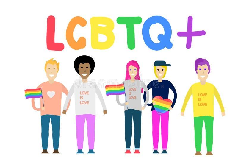 Amor del mismo sexo LGBT LGBTQ Ilustración del vector libre illustration