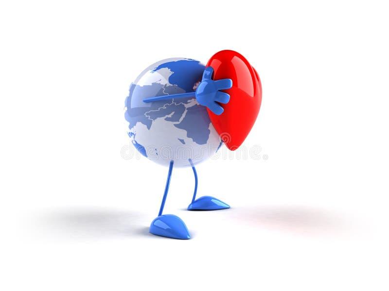 Amor del mundo ilustración del vector