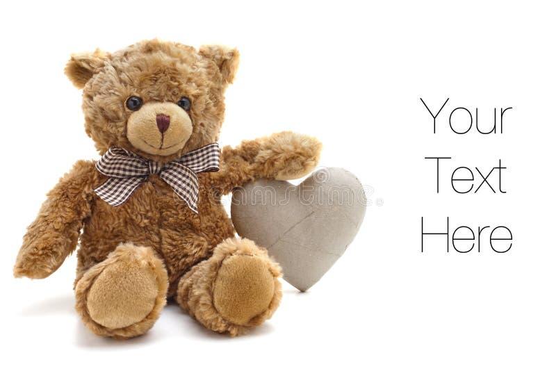 Amor del oso del peluche fotografía de archivo libre de regalías