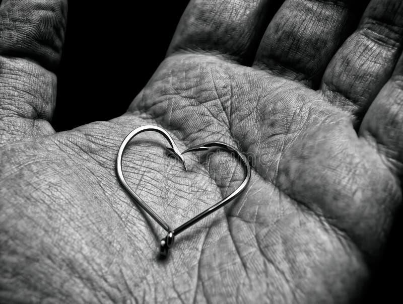 Amor del pescador foto de archivo libre de regalías