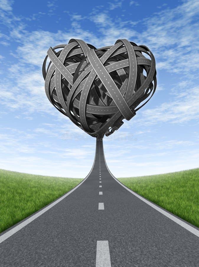 Amor del viaje por carretera stock de ilustración