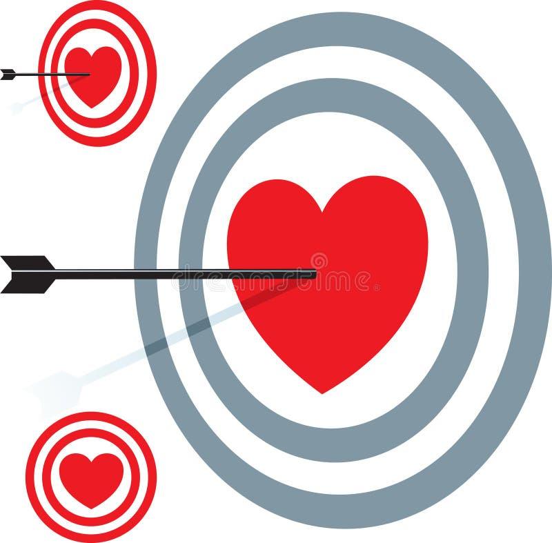 Amor do alvo ilustração stock