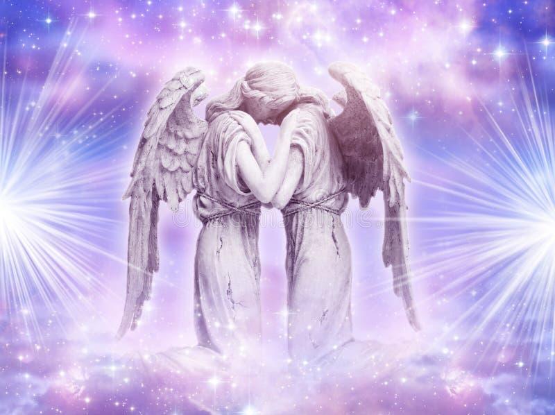 Amor do anjo ilustração stock