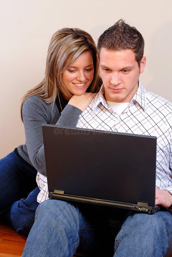 Amor do computador fotos de stock