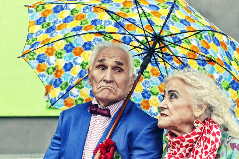 Amor do conceito, par idoso, modernos família, feliz, junto, fotografia de stock royalty free