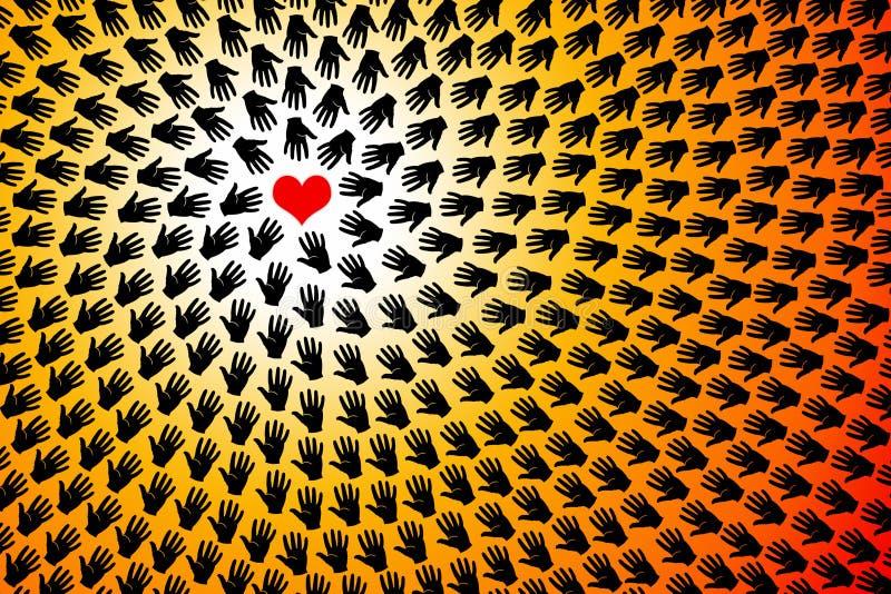 Amor do coração ilustração royalty free