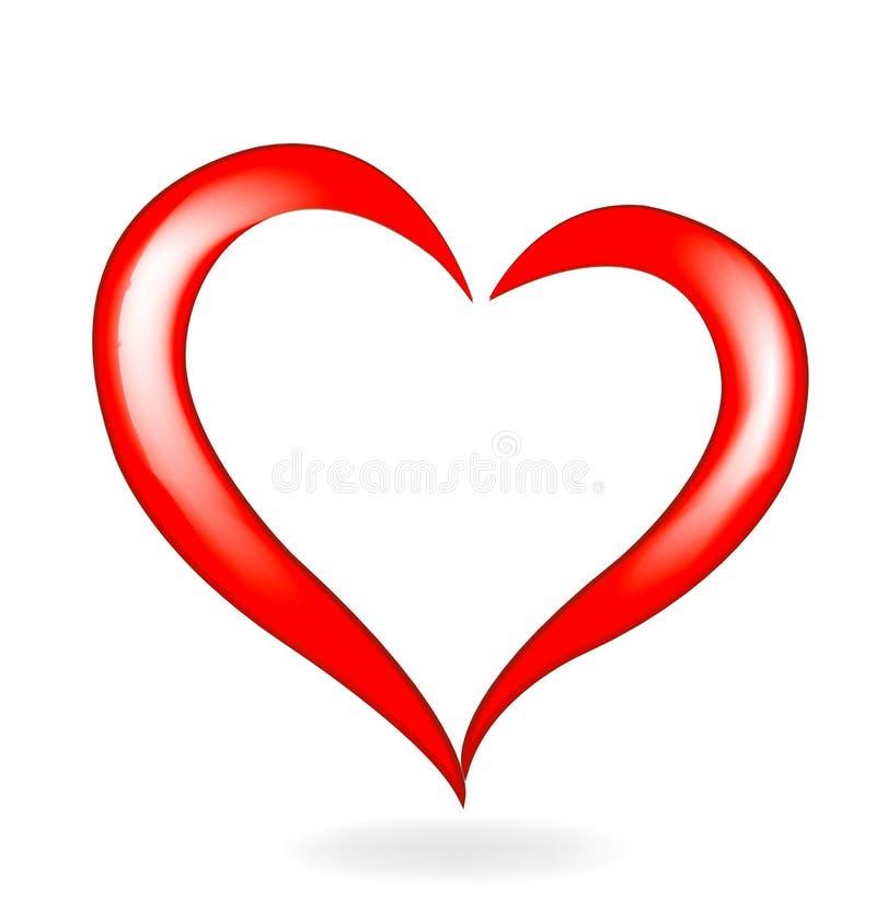 Amor do coração dos Valentim ilustração royalty free