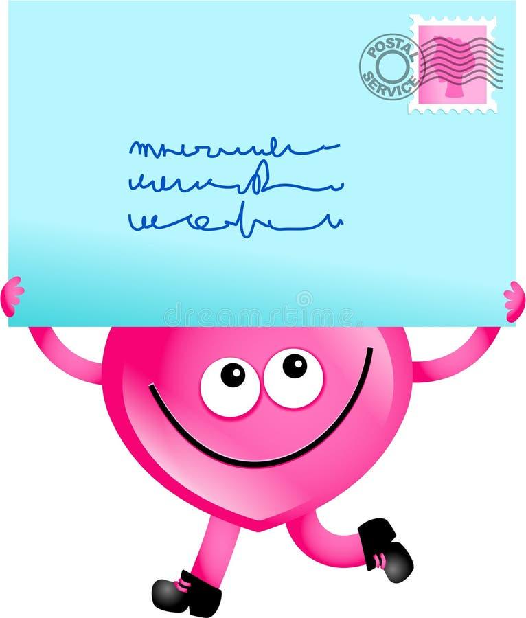 Amor do correio ilustração royalty free