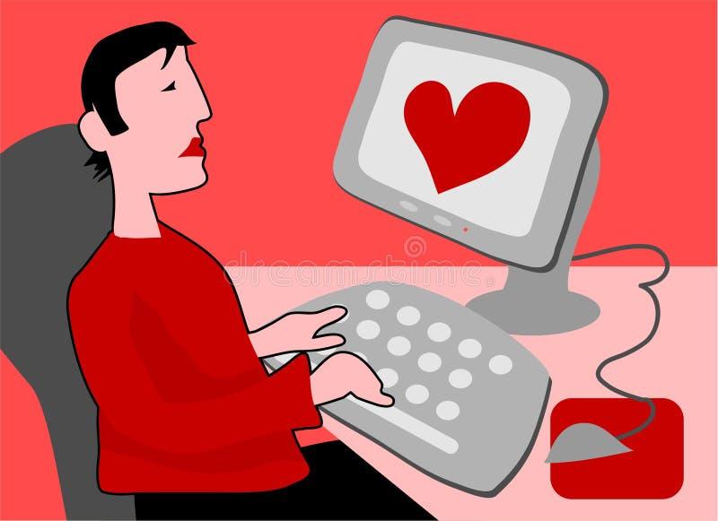 Amor do Cyber ilustração royalty free