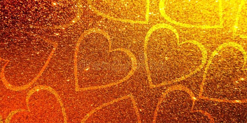 Amor do dia de são valentim do coração do fundo dos Valentim do brilho ilustração royalty free