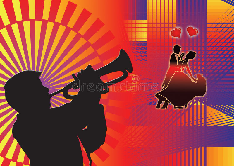 Amor do disco ilustração do vetor