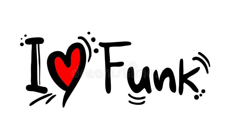 Amor do estilo da música do funk ilustração stock