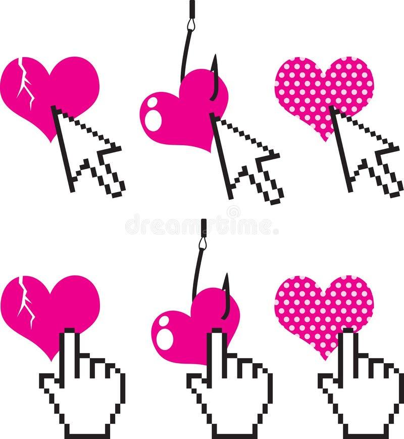 Amor do Internet ilustração royalty free