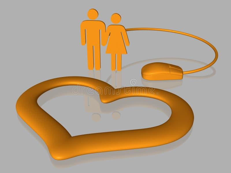 Download Amor Do Internet - Isolado - 3D Ilustração Stock - Ilustração de render, isolado: 12800593