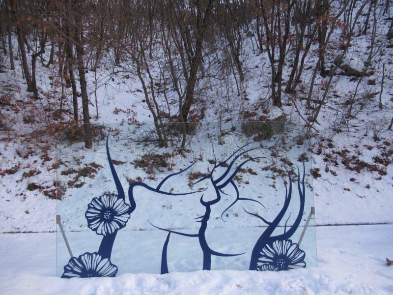 Amor do inverno imagem de stock