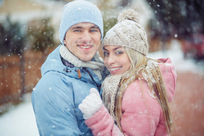 Amor do inverno fotos de stock royalty free