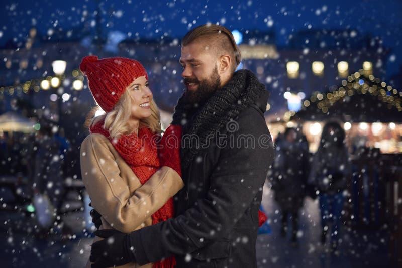 Amor do inverno foto de stock