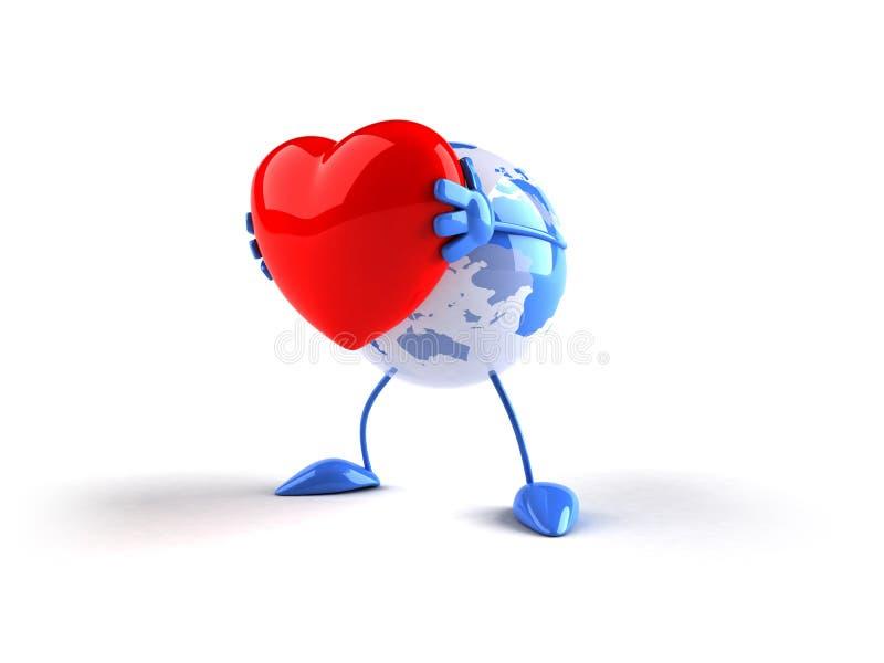 Amor do mundo ilustração stock