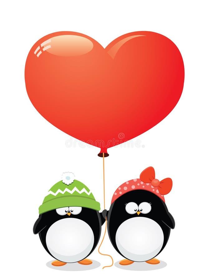 Amor do pinguim ilustração royalty free
